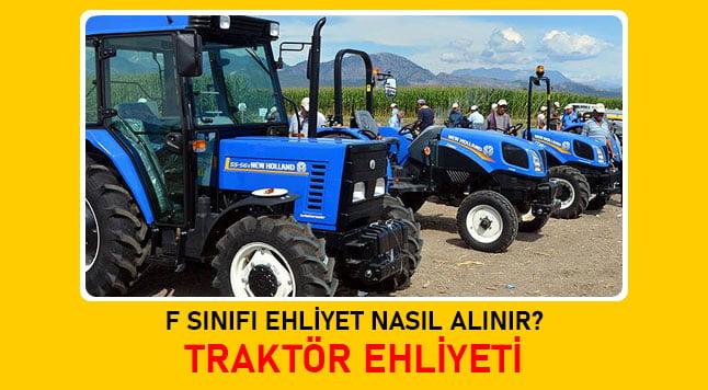 f sınıfı traktör ehliyeti