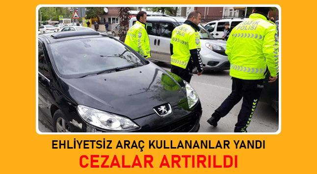 ehliyetsiz araç kullanma cezası